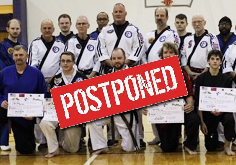 Postponed-Brown-Black-Belt-Test